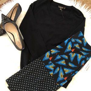 Black Sweater & Lularoe Cassie Skirt NWT